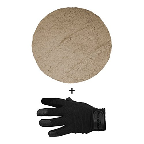 SpidaStamp & SpidaGlove | Concrete Texturing System for Stepping Stones, Landscape Edging, or Decorative Concrete. Northwest Stone Textures. (Layered Sandstone)