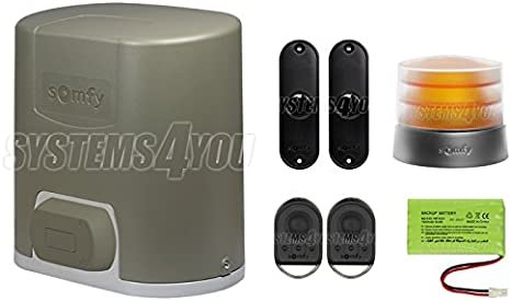 Somfy Elixo 500-3S RTS 1216364 - Kit para puertas correderas: Amazon.es: Iluminación