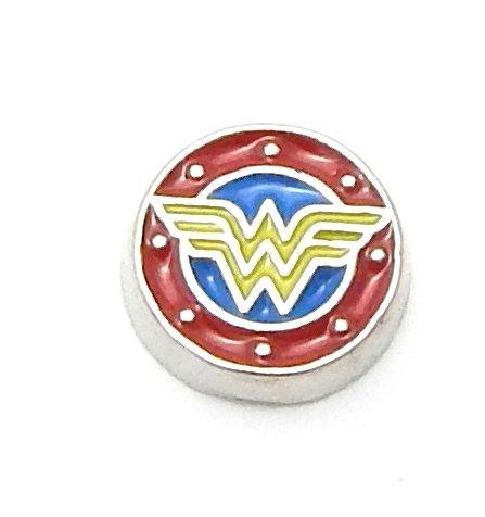 Cherityne Wonder Woman Floating Charm for Locket Pendants]()