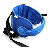 YXZX Baby Head Restraint Belt Child Car Seat Sleep Aid Band,Blue,55X44CM
