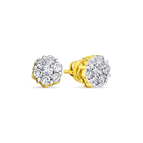 Royal, Rare, Jewel Ivy 10K Gold Diamond Earring Fine Jewelry, Best For Gifting Wife, Girlfriend, Friend by Jewel Ivy