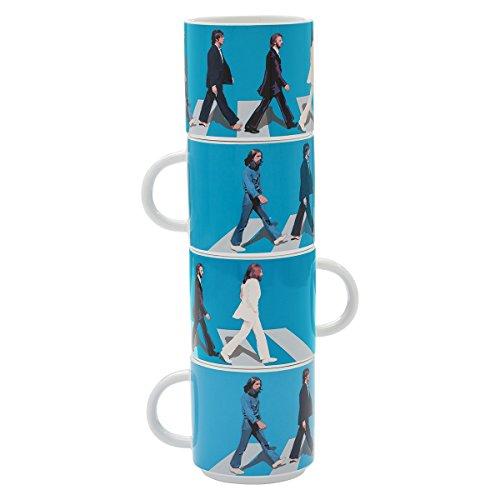 Beatles Mug (Vandor The Beatles Abbey Road 4 Piece Ceramic Stacking Mug Set (72006))
