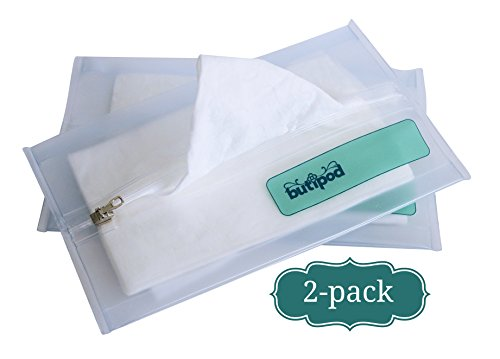 Buti-Pods Slim Wipes Travel Case Dispenser, V4.0, Translucent