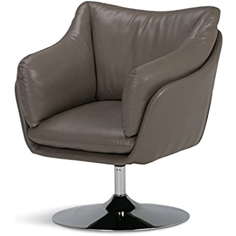 Simpli Home Jasper Swivel Chair Taupe