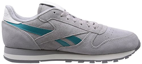 Steel Shark Herren Leather Sneakers Gem Suede White Team Mgh Classic Grey Reebok Solid Grey ZwqF6q