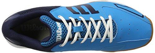 Wilson Unisex Tennisschuhe Storm, Indoor, Synthetik hellblau/blau/weiß