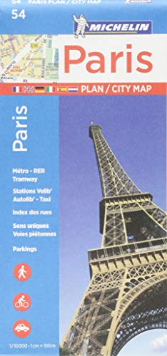 Michelin Paris Street Map + Index Map 54 (Maps Paris)