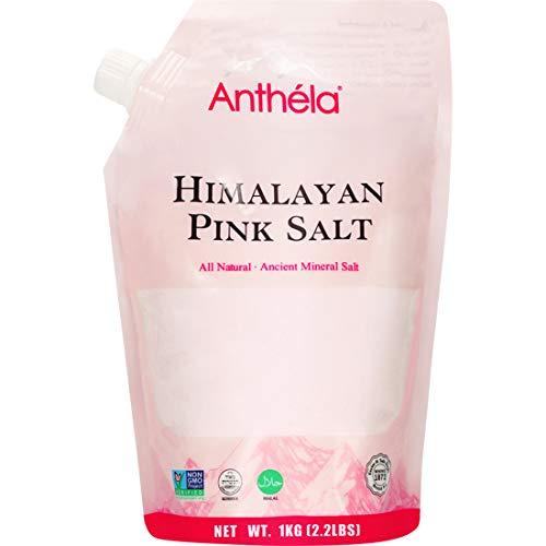 Anthéla Himalayan Pink Salt, Premium Organic Gourmet 100% Pure Ancient Mineral Sea Salt. Natural and Amazing Flavor. Non-GMO, Kosher, Halal, Sedex Certified. Extra Fine Grain Refill bag 2.2lbs (Himalayan Sea Salt Organic)