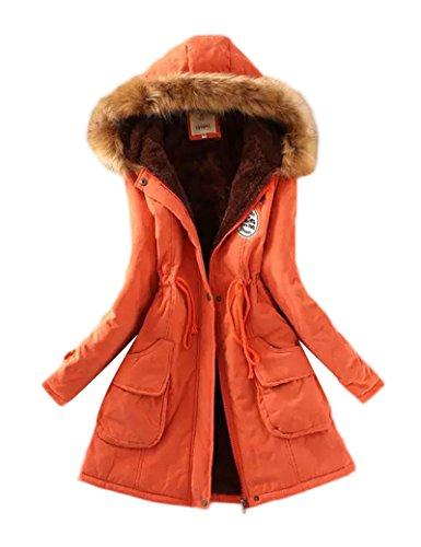 Gran tamaño Ocio Casual abrigo las mujeres de Orange 3XL