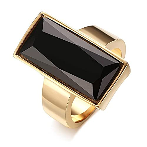 Black Stone Fashion Rings Amazoncom