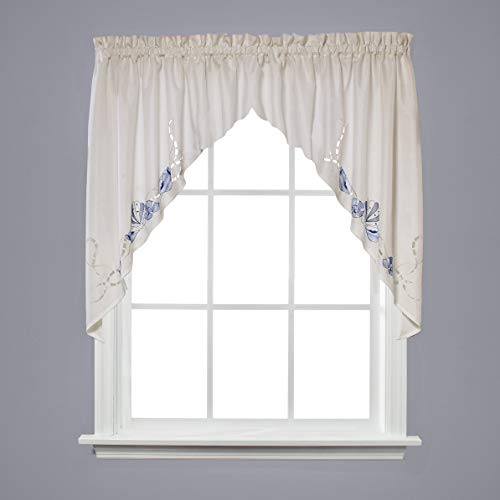 SKL Home by Saturday Knight Ltd.  Seabreeze Swag Valance Pair, Ocean,  57 inches x 36 inches