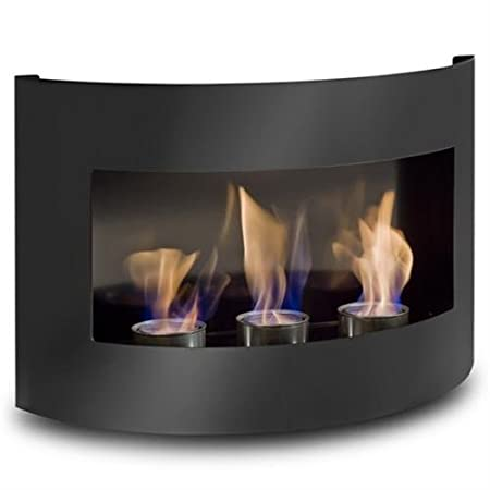 Design Fireplace RIVIERA Black Bio Ethanol Gel Fire Place: Amazon.co ...