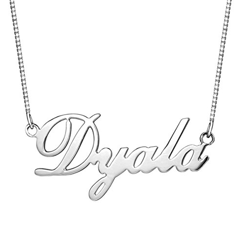 Silver Personalized Name Necklace - 6