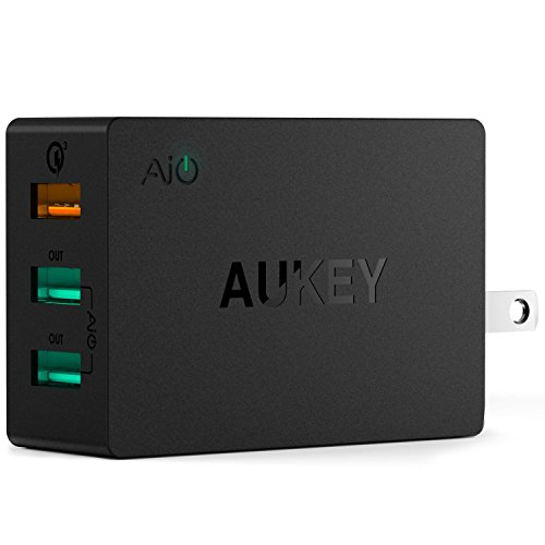 AUKEY Charger Foldable Samsung iPhone7