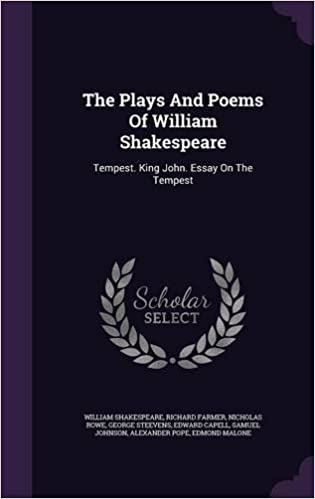 Amazoncom The Plays And Poems Of William Shakespeare Tempest  The Plays And Poems Of William Shakespeare Tempest King John Essay On  The Tempest Sample High School Essay also Important Of English Language Essay  Thesis For An Analysis Essay