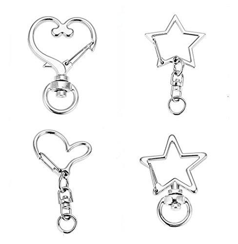 (Swivel Trigger Snap Hooks 24 pcs Creative Key Chain Ring Car Keychain Button Trouser Hook Swivel Clasps, Set)
