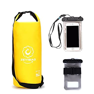 Winsen Dry Bag Sack Waterproof Compression,plus Phone Dry Bag,most Durable Bags with Adjustable Shoulder Strap,perfect Bag for Boating,kayaking,hiking,rafting,canoeing,snowboarding,camping Fishing 20l