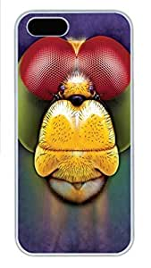 IPhone 5/5S Case Dragonfly Tie-Dye PC Hard Plastic Case for iPhone 5/5S Whtie