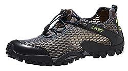 Mohem Jason Men's Casual Trail Shoes Outdoor Hiking Shoes(16820Black38)