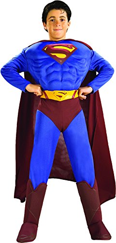 superman+costumes Products : Rubies Kid's DC Comics Deluxe Muscle Chest Superman Costume