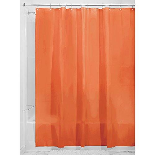 InterDesign Mildew-Free EVA 5.5 Gauge Shower Liner, 72 x 72, Burnt - Acetate Orange