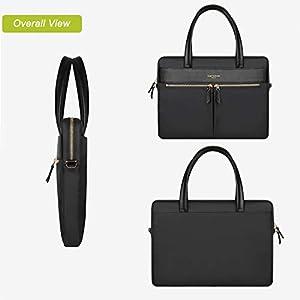 Cartinoe [Upgraded version] Women Laptop Briefcase Bag RFID Blocking Ultrathin Nylon Business Shoulder Messenger Bag Handbag For 15 inch Macbook Ultrabook For Ladies Black by YOUPECK