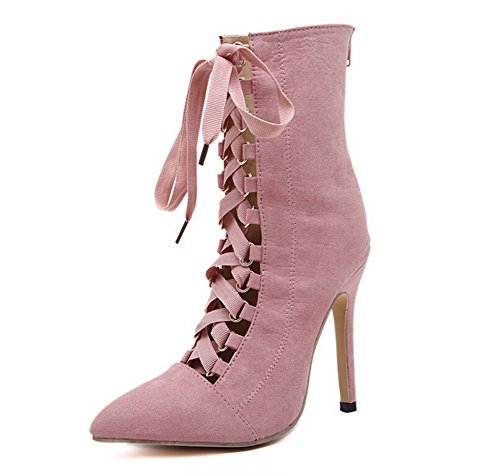 AdeeSu Suede Boots Performance Stilettos Spikes Pink Womens r0gI8qFr