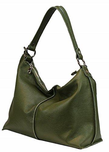 Bozana Bag Pia grün Italy Designer Damen Handtasche Ledertasche Tasche Leder Shopper Neu