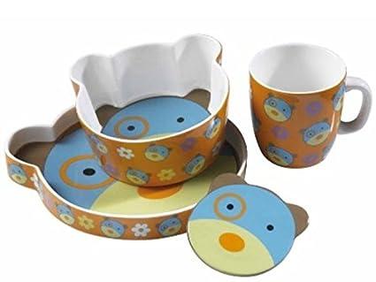 Bimbo Porcelana Teddy Boy – Juego de 4 piezas