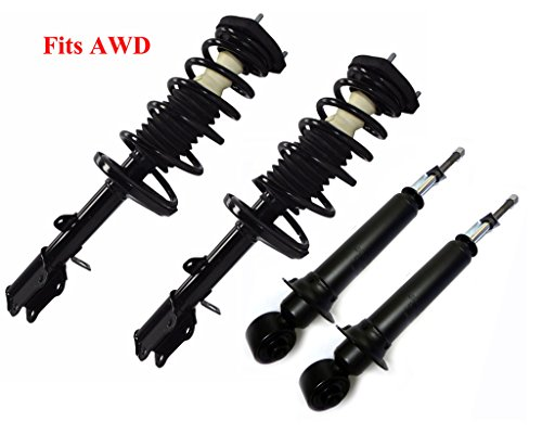 DTA 70130A AWD Full Set 2 Front Complete Struts with Springs and Mounts + 2 Rear Shocks 4-pc Set Fit Toyota Matrix Pontiac Vibe AWD Only