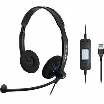 Sennheiser SC 60 USB CTRL Binaural Diadema Negro, Azul auricular con micrófono - Auriculares con