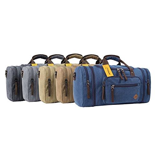 Fafada 40L Canvas Sporttasche Reisetasche Erweiterbare Großräumige Handtasche Schultertasche