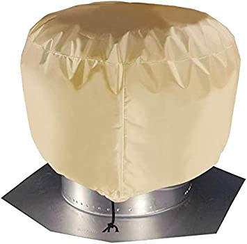 Turbine Roof Vent Cover Heavy Duty Waterproof Turbine Ventilator Cover Fit 12 In 20 In Protector With Nylon Draw String Jjz113 12in 12 X17 5 Beige Amazon Com