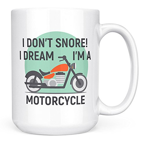 dpa Mug Gifts – I don't Snore I Dream I'm a Motorcycle - Biker Grandpa Mug – Cool Uncle Grandpa Coffee Mug Funny Tea Cup - Ceramic 15oz ()