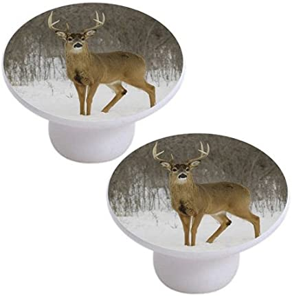 Ceramic Cabinet Knobs Elk Caribou #4 wildlife deer