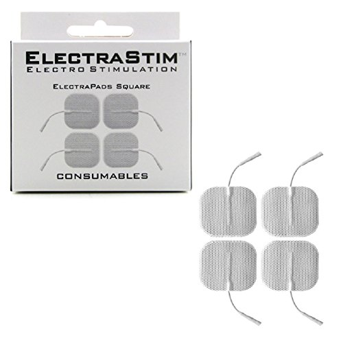 Electrapads-Square 4 Pack with Free Bottle of Adult Toy Cleaner by ElectraStim