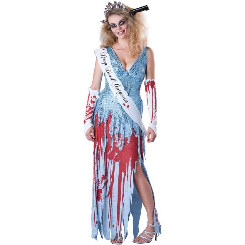 Drop Dead Gorgeous Adult Costume - X-Large (Dead Prom Queen Halloween Costume)