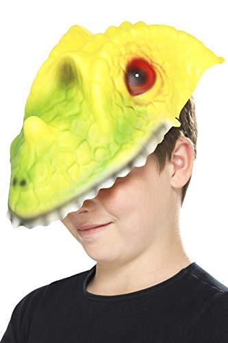Smiffy's - Máscara para Cabeza de cocodrilo, Color Verde y Amarillo, Talla única
