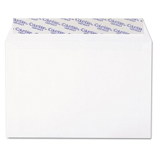 Columbian CO330 Grip-Seal Booklet Envelopes, Plain, 24lb, 6-Inch x9-Inch, 250/BX, WE Booklet Grip Seal Envelope