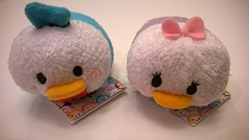 Bundle - 2 Items: Disney Donald and Daisy Duck Mini Tsum Tsum Plush, 3 1/2 -