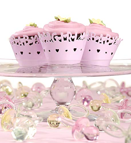 Darice pink Cupcake Wrappers: Baby Girl, 24 Pack