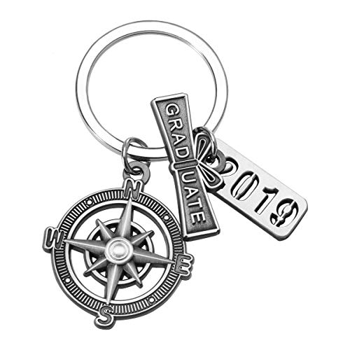 Best Graduation Gifts For Guys - Graduation Keychain with Scroll,