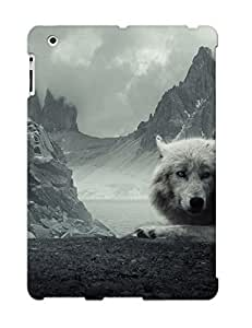 Case Provided For Ipad 2/3/4 Protector Case Animal Wolf Beautiful Overcast Mountain Animal Phone Cover With Appearance