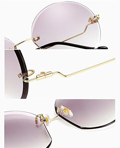 nbsp;mm 59 Gris de Wei Bordes Sol Gafas Gafas 1 Unisex sin nbsp;× de polarizadas Sol 59×59×145mm BIGBOBA tqnO7wBaa