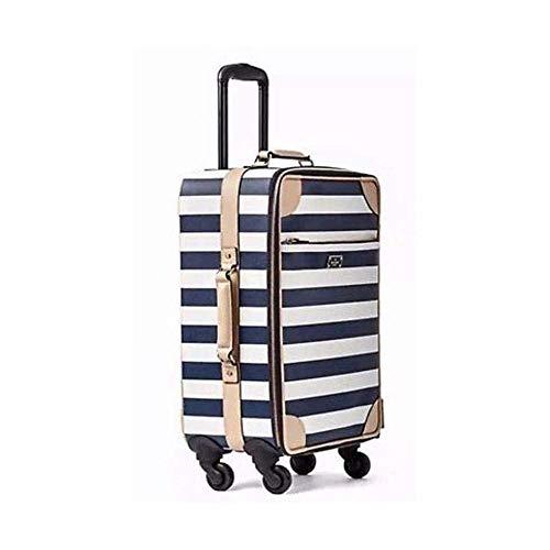 Kate Spade New York Bon Voyage Universal Carry On Cream Navy Stripe