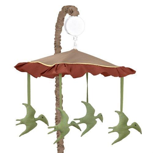Sweet Jojo Designs Dinosaur Musical Baby Crib - Crib Musical Mobile Baby Brown
