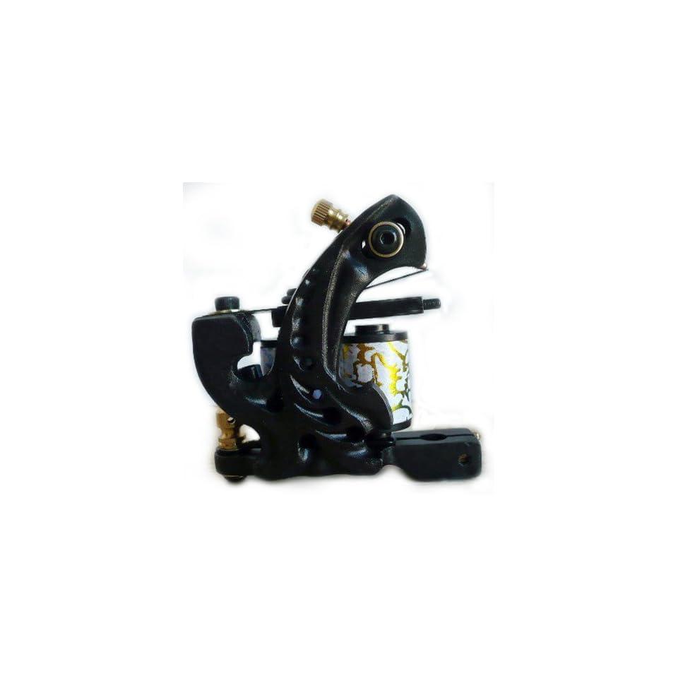 custom 10 Wraps Cast Iron Tattoo Machine Shader Liner gun kit e010793