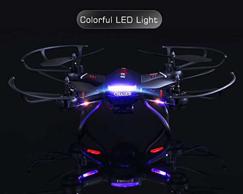 Holy-Stone-F181-RC-Quadcopter-Drone-with-HD-Camera-RTF-4-Channel-24GHz-6-Gyro-Headless-System-Black-Upgraded-with-Altitude-Hold-Function