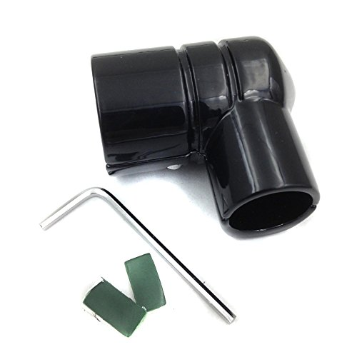 DRAG SPECIALTIES Black FUEL LINE FITTING COVER for Harley Ultra Classic Electra (Ultra Fuel Line)