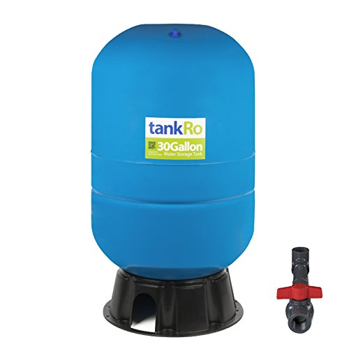 30.0 Gallon RO Expansion Tank – Large Reverse Osmosis Water Storage Tank Reservoir by tankRO – with FREE Tank Ball Valve by TankRo